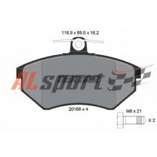 Тормозные колодки передние VW Golf, Jetta, Passat, Seat