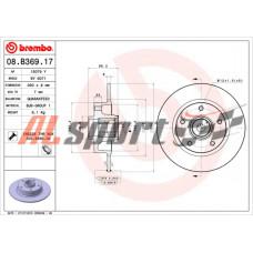 Диск тормозной задний RENAULT с интегрированным подшипником FLUENCE(L30) 02/10-
