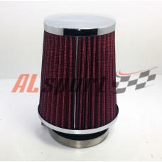 Фильтр нулевого сопротивления ASIA TP-021-1 120Х130Х 70 КОНУС Красный/ХРОМ