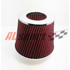 Фильтр нулевого сопротивления ASIA TP-009 155Х130Х 70 ТОРНАДО  Красный/ХРОМ