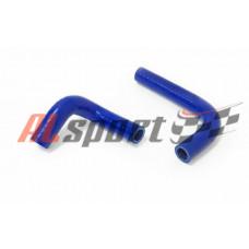 Патрубки отопителя (печки) LADA 2101-2107 карбюратор синий (2 шт)