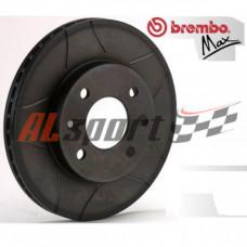 Диск тормозной передний LADA 2112 R14 BREMBO MAX (ком.2 шт) вентилируемые