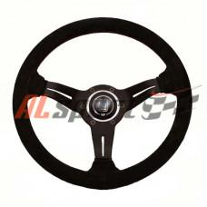 Руль спортивный  NARDI Replica 350mm замша вынос 4 см красная строчка