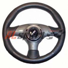 Руль спортивный  RAID 320mm кожа 320 мм СПОРТ оригинал