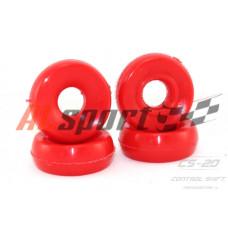 Втулка амортизатора верхняя LADA 2110 Полиуретан Красный 2 штуки