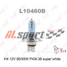 Лампа H 4 12V 60/55W LYNXauto SUPER WHITE 1 шт. картон