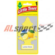 Ароматизатор Елочка Лимонный сад пропитанный подвесной пластинка живой лимон Car