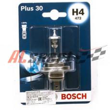 Лампа H 4 12V 60/55W BOSCH Plus 30 1 шт. блистер