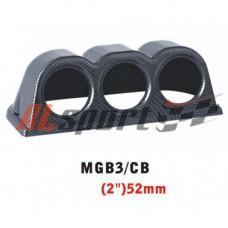 Подиум на 3 прибора карбон  52 мм