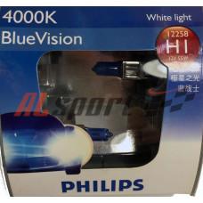 Лампа H 1 12V 55W PHILIPS 2 шт. Blue Vision