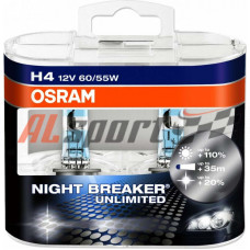 Лампа H 4 12V 60/55W Osram Night Breaker 2 шт.+90%