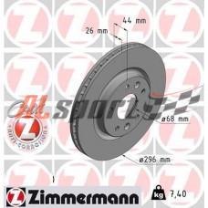 Диск тормозной передний LADA 21925 R16 Zimmerman ST (ком.2 шт) калина NFR