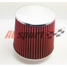 Фильтр нулевого сопротивления ASIA TP-007-1 155Х130Х 76 Красный/ХРОМ