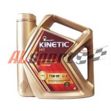 Масло трансмиссионное 75W90 Rosneft (4 л)  GL-4 Kinetic MT полусинтетическое