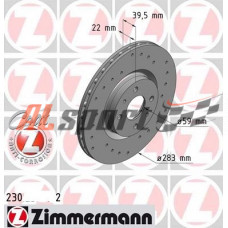 Диск тормозной передний LADA 21905 R15 Zimmerman SPORT(ком.2 шт) Гранта SPORT
