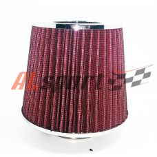 Фильтр нулевого сопротивления ASIA TP-007Xrom 155Х130Х 70 Красный/ХРОМ