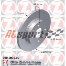 Диск тормозной передний LADA 2108 R13 Zimmerma (ком.2 шт) не вентилируемые