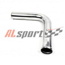 Алюминевая труба Ф57 мм   90 градусов 350 мм