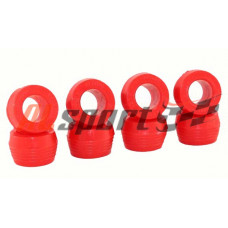 Втулка амортизатора нижняя LADA 2101 Полиуретан Красный 8 штук