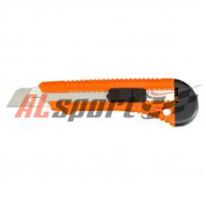 Нож универсальный, 18 мм, выдвижное лезвие, металлическая направляющая// Sparta