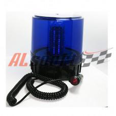 Спецсигнал Фонарь синий стробоскоп 130 диодов 12V крепление магнит 155х190х168