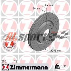 Диск тормозной передний LADA 21925 R16 Zimmerman SPORT(ком.2 шт) калина NFR