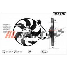 Вентилятор системы охлаждения VW Polo diam.345mm .Golf IV.Golf IV Skoda