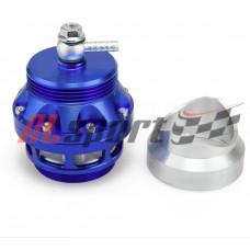 Клапан избыточного давления Blow off valve 50мм синий с алюминиевым фланцем