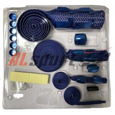 Бронешланги SIMOTA Синие  комплект с фитингами
